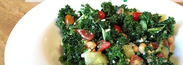 Kale + Chickpea Greek Salad