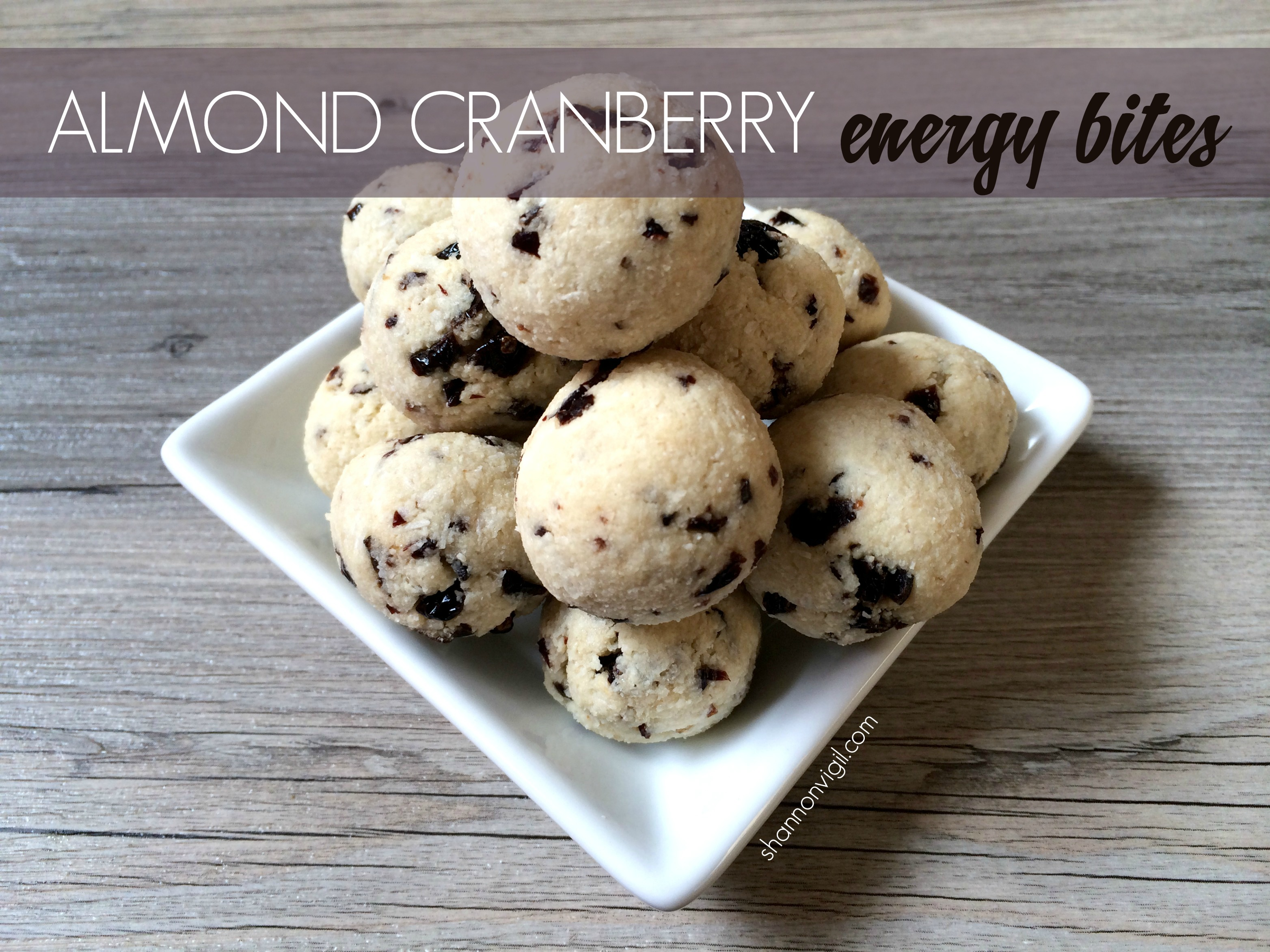 Almond Cranberry Energy Bites